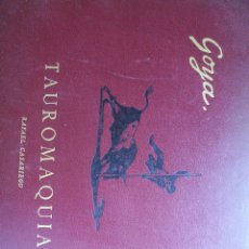 Tauromaquia: LIBRO DE TOROS CAPRICHOS DE GOYA. Lote 202950643