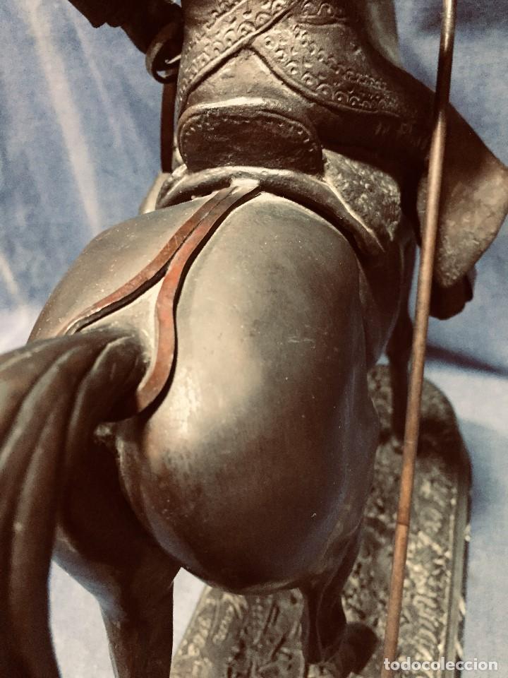 Tauromaquia: bronce tauromaquia toros garrochista caballo sombrero cordobes firma moran 8/100 1983 43x38cms - Foto 17 - 203790133