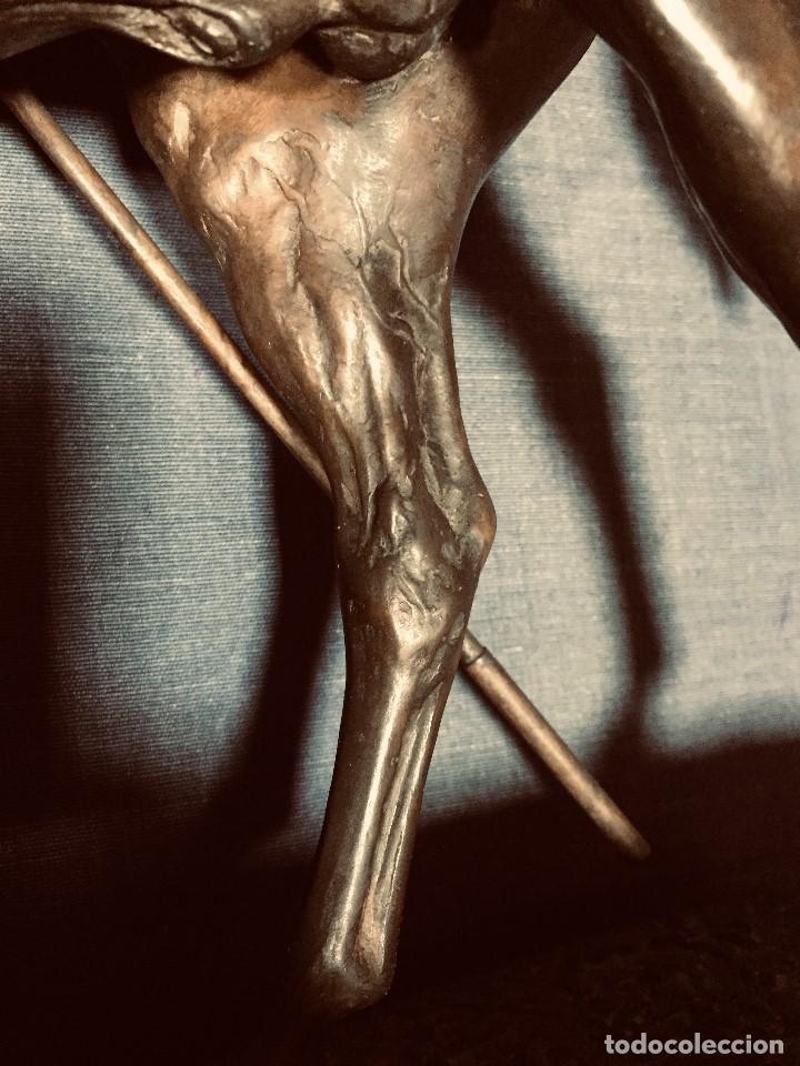 Tauromaquia: bronce tauromaquia toros garrochista caballo sombrero cordobes firma moran 8/100 1983 43x38cms - Foto 20 - 203790133