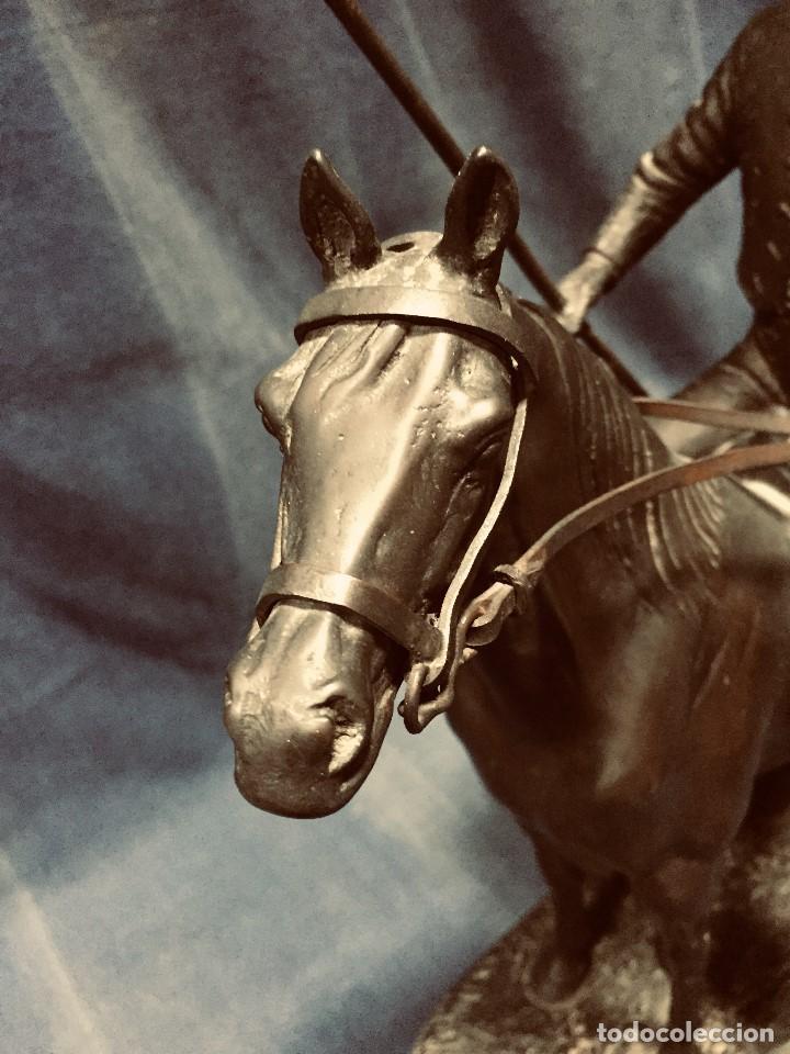 Tauromaquia: bronce tauromaquia toros garrochista caballo sombrero cordobes firma moran 8/100 1983 43x38cms - Foto 24 - 203790133