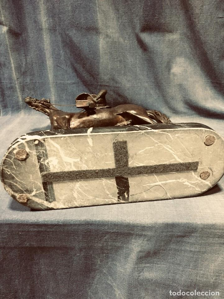 Tauromaquia: bronce tauromaquia toros garrochista caballo sombrero cordobes firma moran 8/100 1983 43x38cms - Foto 25 - 203790133