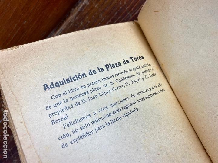Tauromaquia: MURCIA TOROS TOROS Y CANTARES LÓPEZ PALACIOS AGUSTIN AÑO 1934 - Foto 5 - 204275841
