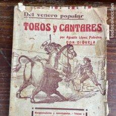 Tauromaquia: MURCIA TOROS TOROS Y CANTARES LÓPEZ PALACIOS AGUSTIN AÑO 1934. Lote 204275841