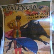 Tauromaquia: CARTEL DE TOROS. GRAN FERIA DE FALLAS 2002, 95X54. Lote 205258275