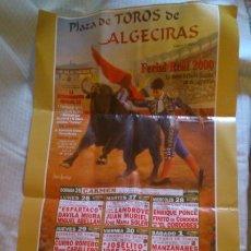 Tauromaquia: CARTEL PLAZA DE TOROS DE ALGECIRAS 2000, 90X48 CM. Lote 205262353