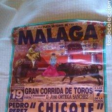 Tauromaquia: CARTEL,PLAZA DE TOROS DE MÁLAGA 1998, 63X43 CM. Lote 205264741