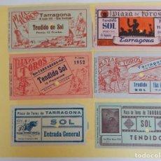 Tauromaquia: 12 ENTRADAS / PLAZA DE TOROS DE TARRAGONA - AÑOS: 1951, 1952, 1953, 1954, 1955 Y 1956. Lote 205363410