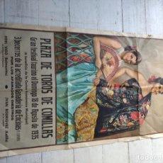 Tauromaquia: GRAN CARTEL PLAZA TOROS COMILLAS 1935.. Lote 205850546