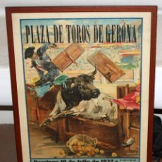 Tauromaquia: CARTEL ORIGINAL DE CORRIDA DE TOROS, PLAZA DE TOROS DE GERONA 1932. POR ROBERTO DOMINGO. Lote 207838042
