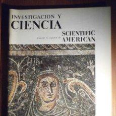 Tauromaquia: INVESTIGACIÓN Y CIENCIA - SCIENTIFIC AMÉRICAN - MOSAICOS ROMANOS DE MÉRIDA - ENERO 1979. Lote 208012092