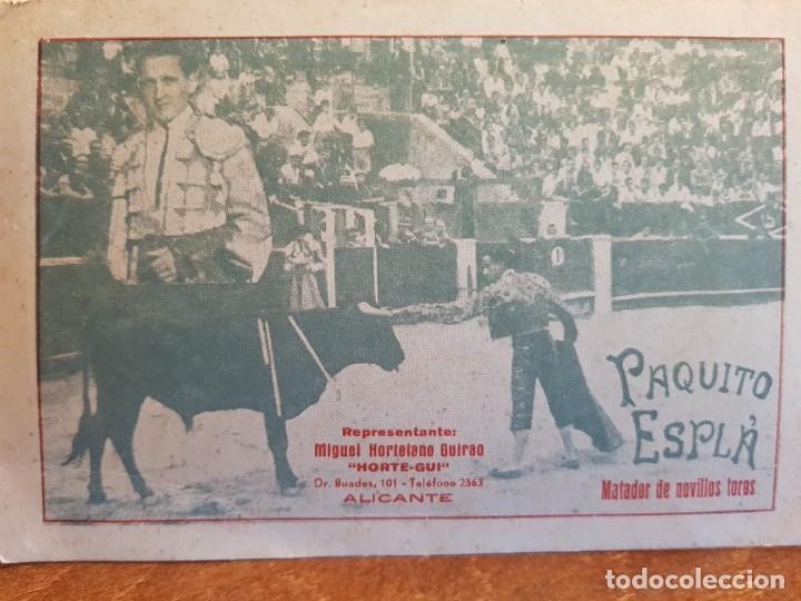 Tauromaquia: TORERO PAQUITO ESPLA MATADOR DE NOVILLOS TOROS ALICANTE - Foto 2 - 209009065