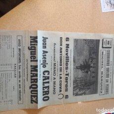 Tauromaquia: CARTEL PLANFLETO FOLLETO PLAZA DE TOROS SANTA CRUZ DE TENERIFE.CALERO MÁRQUEZ COVA 1967. Lote 209582353