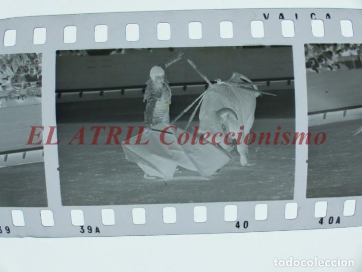 Tauromaquia: VALENCIA TOROS FALLAS AÑO 1965, 33 CLICHES NEGATIVOS DE 35 mm EN CELULOIDE, PUERTA, CAMINO, MACARENO - Foto 12 - 210670572