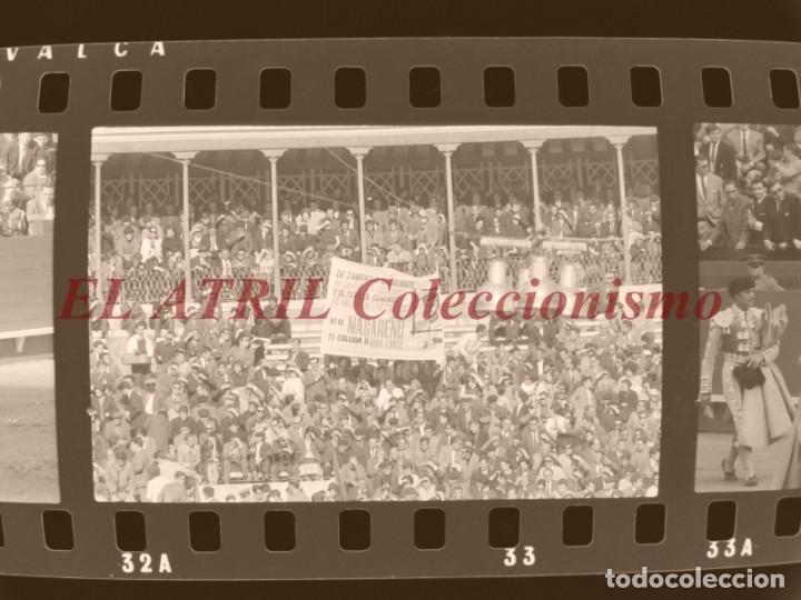 Tauromaquia: VALENCIA TOROS FALLAS AÑO 1965, 33 CLICHES NEGATIVOS DE 35 mm EN CELULOIDE, PUERTA, CAMINO, MACARENO - Foto 37 - 210670572