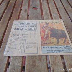 Tauromaquia: PROGRAMA ORIGINAL DE LA MUERTE DEL TORERO MANOLETE PLAZA DE TOROS DE LINARES FERIA SAN AGUSTIN 1947. Lote 210735960