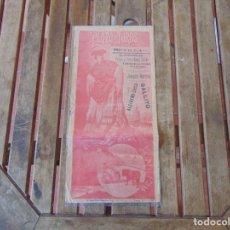 Tauromaquia: CARTEL PLAZA DE TOROS DE SEVILLA BENEFICIO , HERMANDAD MACARENA,TOREROS GALLITO ALGABEÑO CHICO 1899. Lote 210736410