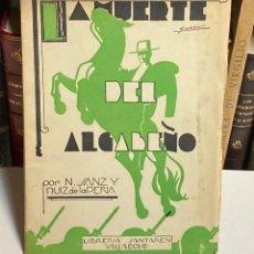 Tauromaquia: AÑO 1937 - ROMANCE DE LA MUERTE DE PEPE GARCÍA EL ALGABEÑO TOROS ILUSTRACIONES POESÍA REJONEO. Lote 211570624