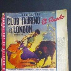 Tauromaquia: REVISTA TAURINA EL RUEDO - Nº 884 - 1 JUNIO 1961 - CLUB TAURINO DE LONDRES. Lote 211575230