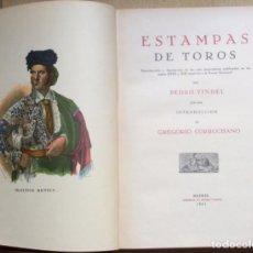 Tauromaquia: ESTAMPAS DE TOROS TAUROMAQUIA - PEDRO VINDEL - Nº 457 / 500 ORIGINAL 1931. Lote 211824323