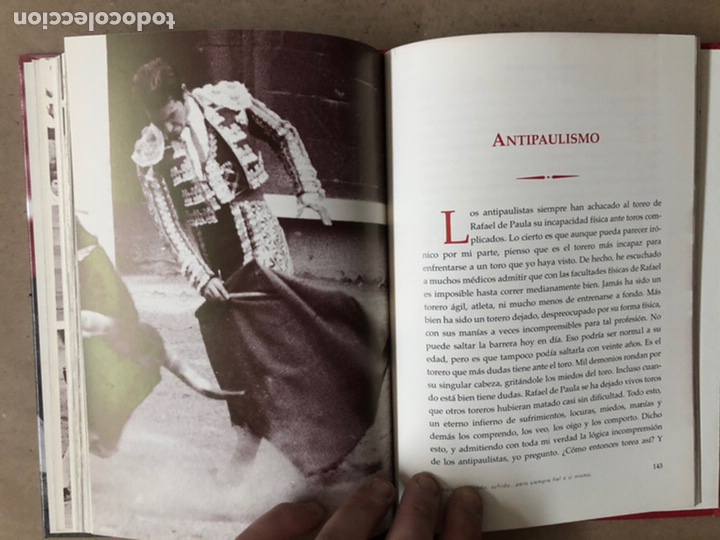 Tauromaquia: DE NEGRO Y AZABACHE RAFAEL DE PAULA, POR JESÚS SOTO DE PAULA. EDICIONES AE 2005. - Foto 9 - 212121667