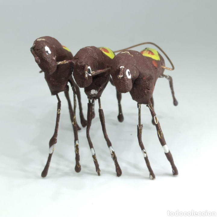 Tauromaquia: Preciosa colección taurina, figuras de barro y alambre, toreros, picadores, mulillas, años 50-60 - Foto 11 - 212177837
