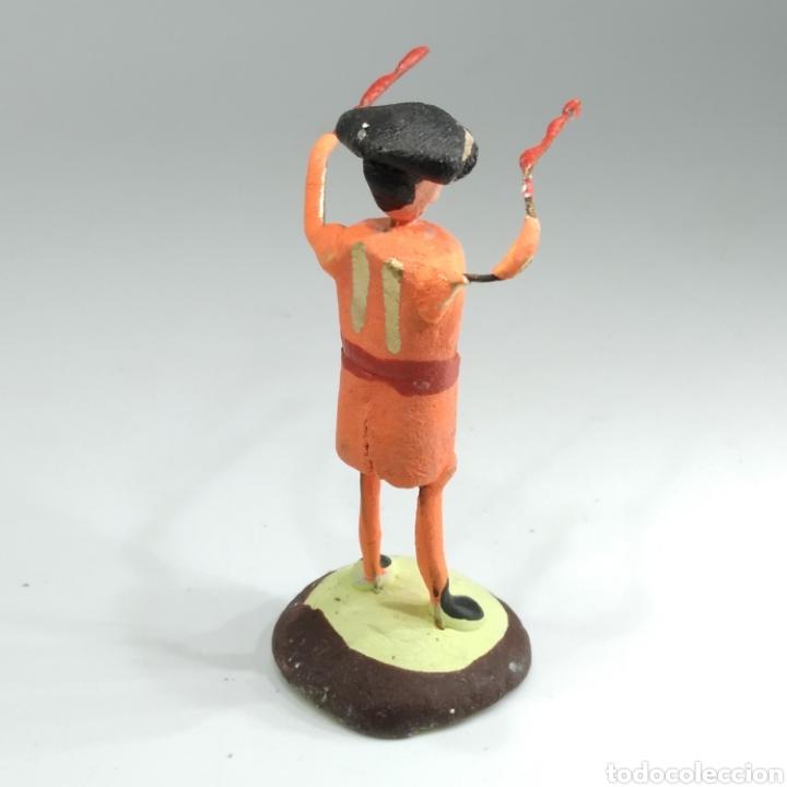 Tauromaquia: Preciosa colección taurina, figuras de barro y alambre, toreros, picadores, mulillas, años 50-60 - Foto 39 - 212177837