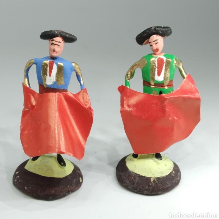 Tauromaquia: Preciosa colección taurina, figuras de barro y alambre, toreros, picadores, mulillas, años 50-60 - Foto 41 - 212177837