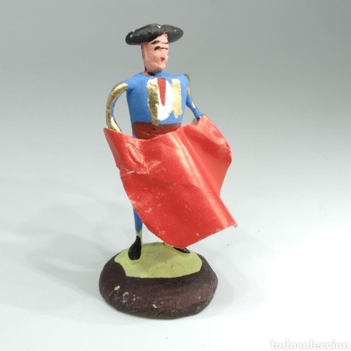 Tauromaquia: Preciosa colección taurina, figuras de barro y alambre, toreros, picadores, mulillas, años 50-60 - Foto 44 - 212177837