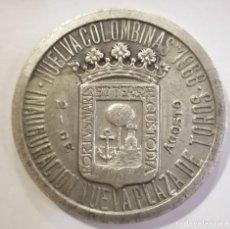 Tauromaquia: MEDALLA INAUGURACION NUEVA PLAZA DE TOROS HUELVA COLOMBINAS 1968 - LITRI CORDOBÉS TERUEL. Lote 212387073