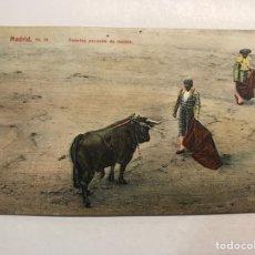 Tauromaquia: MADRID TAUROMAQUIA. POSTAL NO.38, FUENTES. PASANDO DE MULETA, TC, MADRID (H.1910?). Lote 212950830