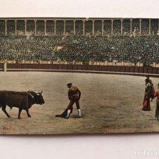 Tauromaquia: MADRID TAUROMAQUIA. POSTAL NO.14, BOMBITA CHICO, CUADRANDO AL TORO. TC, MADRID (H.1910?). Lote 212987567
