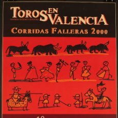 Tauromaquia: CARTEL DE TOROS DISEÑADO POR JAVIER MARISCAL PARA VALENCIA. AÑO 2000. 80X40 CM.. Lote 213562561