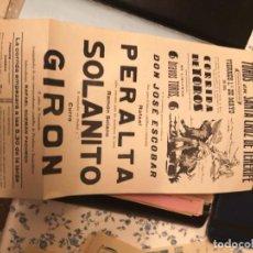 Tauromaquia: CARTEL DE TOROS DE TENERIFE 1959 RAFAEL PERALTA, RAMÓN SOLANITO, CURRO GIRÓN. Lote 213672021