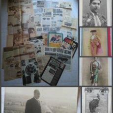 Tauromaquia: COLECCION DE RECORTES DE PRENSA Y REVISTAS DE TOROS RODOLFO GAONA CON RETRATOS Y FOTO. Lote 213959042