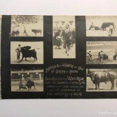 Tauromaquia: VICENTE PASTOR. TORERO, POSTAL MADRID 2 DE OCTUBRE DE 1910. FOTOGRAFÍA DE IRIGOYEN. Lote 214055858