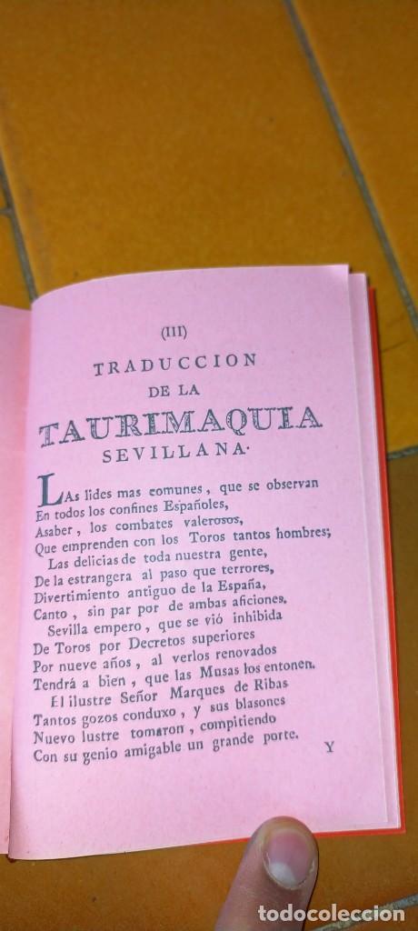 Tauromaquia: TAURIMAQUIA SEVILLANA - FACSIMIL DEL DE 1794 - SEVILLA 1992 TOROS X104 - Foto 6 - 215953996
