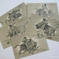 Tauromaquia: PUBLICIDAD TOROS EN FIGUERAS-MAYO 1936-LOTE DE 5 POSTALES DEL TORERO BELMONTE-VER FOTOS-(73.909). Lote 217159451