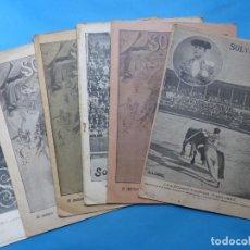 Tauromaquia: 6 REVISTAS TOROS - SOL Y SOMBRA - AÑOS 1890-1900 - VER FOTOS ADICIONALES. Lote 217733051