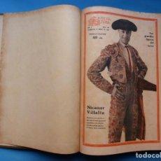 Tauromaquia: LA FIESTA BRAVA, EL CLARIN, ESPECTACULOS DE MADRID - TOMO REVISTA TOROS - 48 REVISTAS, AÑO 1930. Lote 218658398
