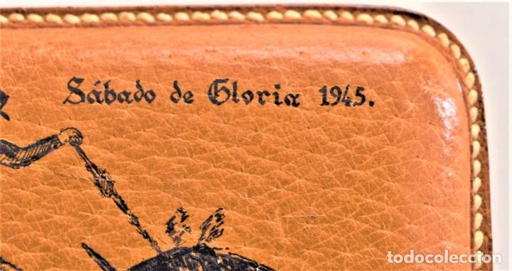 Tauromaquia: PORTA PUROS TAURINO RECUERDO SÁBADO DE GLORIA DE 1945 COMO NUEVO DE LA ÉPOCA - Foto 4 - 218704790