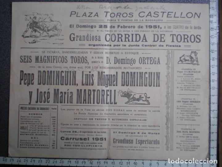 Tauromaquia: PROGRAMA TAURINO AÑO 1951 PLAZA TOROS CASTELLÓN - Foto 2 - 219008853