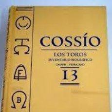 Tauromaquia: LOS TOROS. INVENTARIO BIOGRAFICO 13. CHIAPPI - FERRAZANO. COSSIO +. Lote 219163963