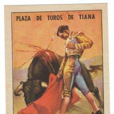 Tauromaquia: DÍPTICO TAURINO, GRANDES CORRIDAS DE FIESTA MAYOR 1949 - PLAZA DE TOROS DE TIANA. Lote 219547392