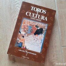 Tauromaquia: TOROS Y CULTURA POR ANDRÉS AMORÓS GUARDIOLA DE ED. ESPASA CALPE EN MADRID. Lote 219652740