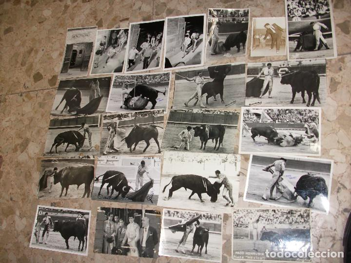 COLECCION DE 100 POSTALES FOTOGRAFICAS FOTOGRAFIA DE TOREROS Y ESCENAS DE TOROS AÑOS 50 (Coleccionismo - Tauromaquia)