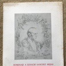 Tauromaquia: HOMENAJE A IGNACIO SÁNCHEZ MEJIAS ( 1891 - 1991) - SANTANDER -CARPETA CON FACSÍMILES TIRADA NUMERADA. Lote 221116205