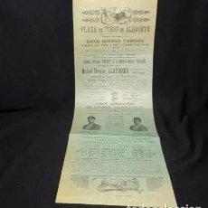 Tauromaquia: AÑOS 1919.- PLAZA DE TOROS DE ALBACETE, CARTEL ORIGINAL.. Lote 222276518