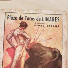 Tauromaquia: PROGRAMA MUERTE DE MANOLETE PLAZA DE TOROS DE LINARES 28 DE AGOSTO DE 1947. Lote 222511195