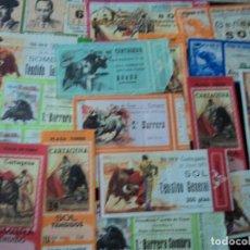 Tauromaquia: 80 ANTIGUAS ENTRADAS DE PLAZAS DE TOROS. Lote 222728447