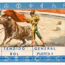 Tauromaquia: ENTRADA PLAZA DE TOROS DE TORRELAVEGA TENDIDO SOL PUERTA 4, CORRIDA DE TOROS 15/08/1972 CANTABRIA. Lote 223817196